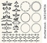 set of vector decorative... | Shutterstock .eps vector #265140926