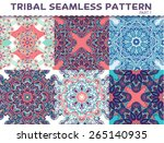 tribal ethnic seamless pattern... | Shutterstock .eps vector #265140935