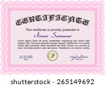 pink certificate or diploma...