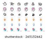 process of human thinking. set... | Shutterstock . vector #265152662