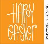 happy easter vector font | Shutterstock .eps vector #265163708