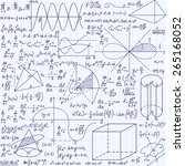 math education vector seamless... | Shutterstock .eps vector #265168052