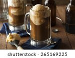 refreshing root beer float with ... | Shutterstock . vector #265169225