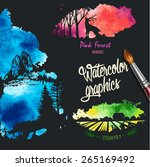 nature silhouettes in colorful... | Shutterstock .eps vector #265169492