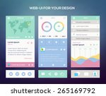 mobile application interface... | Shutterstock .eps vector #265169792