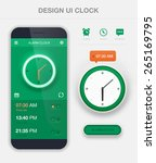 mobile application interface... | Shutterstock .eps vector #265169795