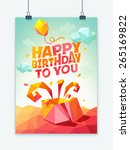 birthday card with low... | Shutterstock .eps vector #265169822
