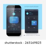 mobile application interface... | Shutterstock .eps vector #265169825
