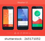 mobile application interface... | Shutterstock .eps vector #265171052
