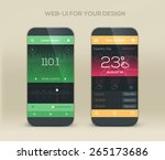 mobile application interface... | Shutterstock .eps vector #265173686