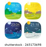 weather widget design  | Shutterstock .eps vector #265173698