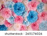 Handmade Roses Backdrop