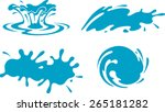 water drops set | Shutterstock .eps vector #265181282