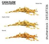 cash flow | Shutterstock . vector #265187336