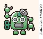robot theme elements | Shutterstock . vector #265187558