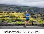 Athlete Male Runner Running On...