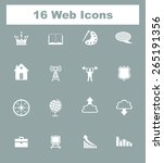 very useful flat web icons on... | Shutterstock .eps vector #265191356