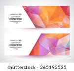 colorful mosaic banner. vector... | Shutterstock .eps vector #265192535
