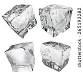 set of four opaque ice cubes in ... | Shutterstock .eps vector #265193282