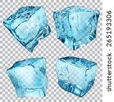 Set Of Four Transparent Ice...