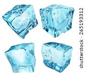 Set Of Four Opaque Ice Cubes I...