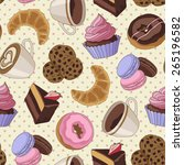 yummy colorful chocolate... | Shutterstock .eps vector #265196582