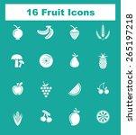 very useful fruit icon set on...