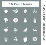 very useful fruit icon set on...