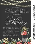 bridal shower invitation | Shutterstock .eps vector #265206065