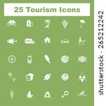 very useful tourism icon set on ...