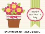 Cute Retro Card For Mother's...