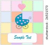 pram for newborn boy. vectors... | Shutterstock .eps vector #26521573