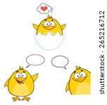 Funny Yellow Chick Cartoon...