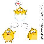 Funny Yellow Chick Cartoon...