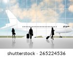 international airport terminal... | Shutterstock . vector #265224536
