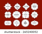 grunge retro labels set.... | Shutterstock .eps vector #265240052