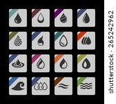 drop icon set | Shutterstock .eps vector #265242962