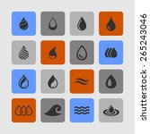 drop icon set  | Shutterstock .eps vector #265243046