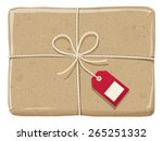 a parcel wrapped up with a... | Shutterstock .eps vector #265251332