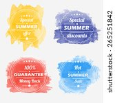 summer offer stickers with... | Shutterstock .eps vector #265251842