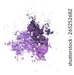 purple eyeshadow isolated on... | Shutterstock . vector #265252682