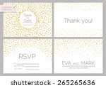 save the date collection.... | Shutterstock .eps vector #265265636