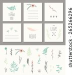 Set Of 6 Cute Card Templates....