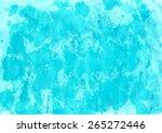handpainted aqua colored... | Shutterstock .eps vector #265272446