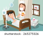 the nurse taking care of... | Shutterstock .eps vector #265275326