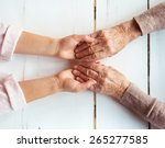 unrecognizable grandmother and... | Shutterstock . vector #265277585