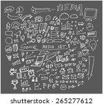 hand drawn social symbol | Shutterstock .eps vector #265277612