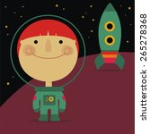 cosmonaut and rocket | Shutterstock .eps vector #265278368