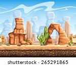 seamless horizontal background... | Shutterstock . vector #265291865