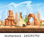 seamless horizontal background... | Shutterstock . vector #265292792